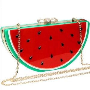 Handbags - Watermelon bow festival clutch crossbody